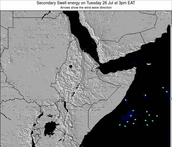 Somalia Secondary Swell energy on Monday 21 Apr at 9pm EAT