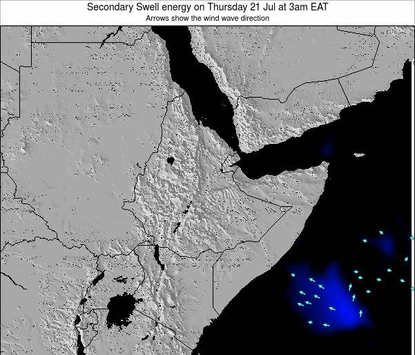 Yemen Secondary Swell energy on Saturday 14 Dec at 3pm EAT