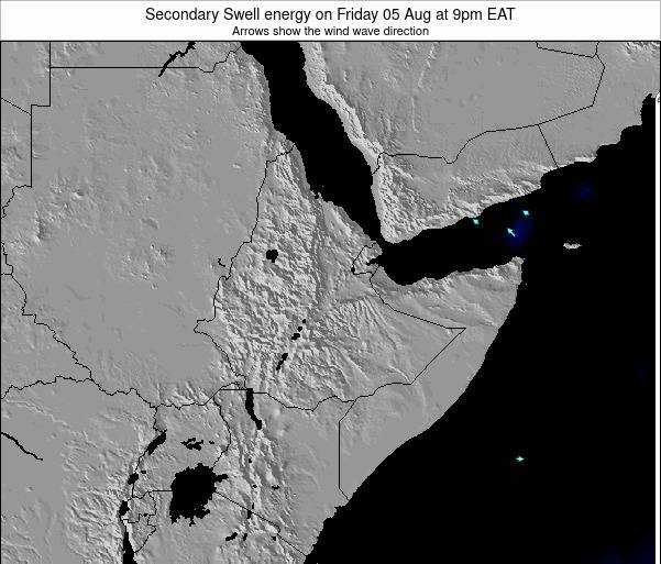 Somalia Secondary Swell energy on Sunday 27 May at 9pm EAT map