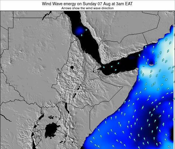 Yemen Wind Wave energy on Wednesday 27 Jun at 3am EAT map