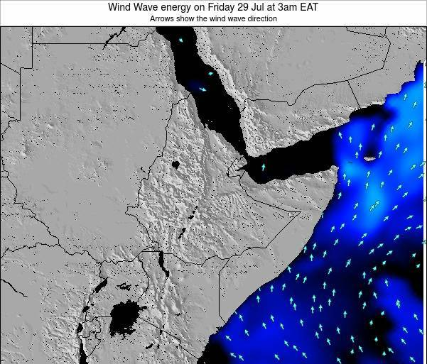 Yemen Wind Wave energy on Sunday 25 Feb at 3pm EAT map