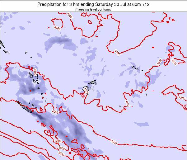 Fiji Precipitation for 3 hrs ending Monday 20 May at 6pm FJT