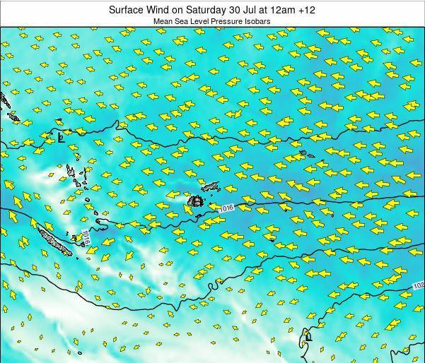 Fiji Surface Wind on Thursday 23 May at 12am FJT