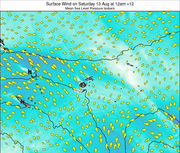 Fiji Surface Wind on Saturday 25 May at 12pm FJT