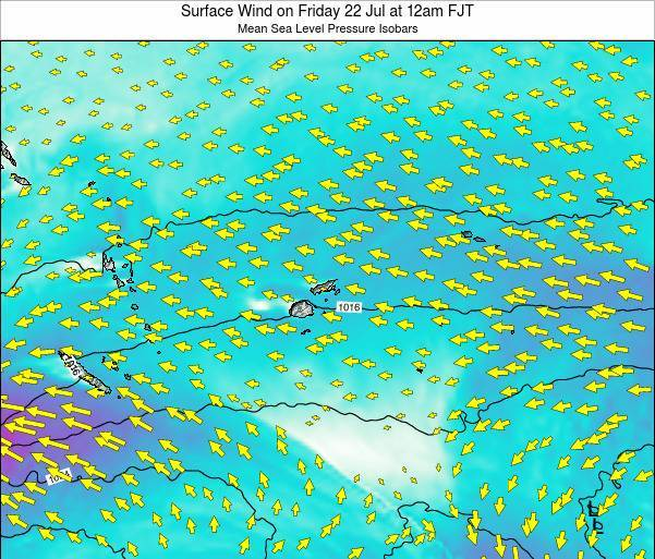Fiji Surface Wind on Friday 31 May at 12am FJT