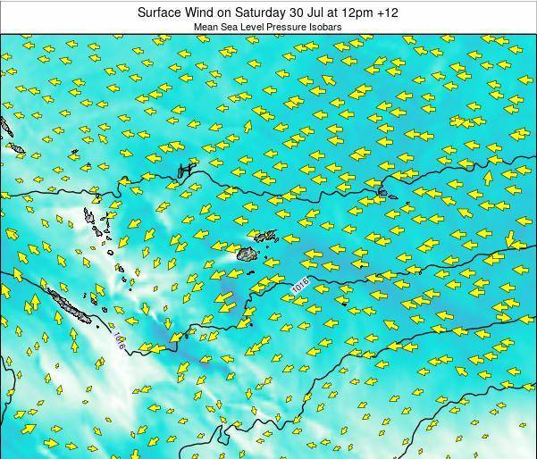 Fiji Surface Wind on Monday 27 May at 6pm FJT