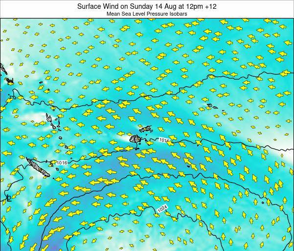 Fiji Surface Wind on Wednesday 29 May at 12am FJT
