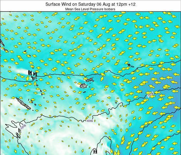 Fiji Surface Wind on Tuesday 21 May at 6am FJT