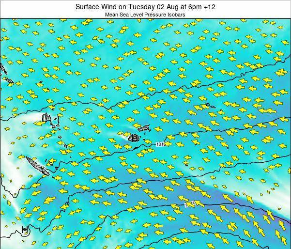 Fiji Surface Wind on Wednesday 22 May at 12pm FJT