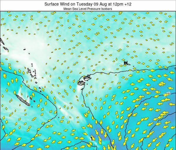 Fiji Surface Wind on Wednesday 29 May at 6pm FJT