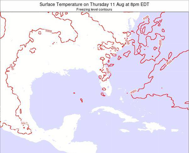 Florida Surface Temperature on Tuesday 29 Apr at 2pm EDT map