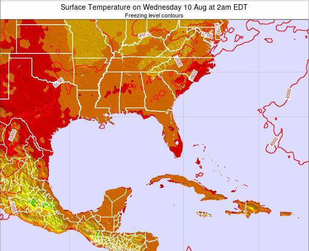 Florida Surface Temperature on Monday 27 May at 8am EDT