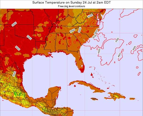 Florida Surface Temperature on Monday 20 May at 8am EDT
