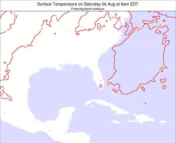 Florida Surface Temperature on Sunday 19 May at 8am EDT