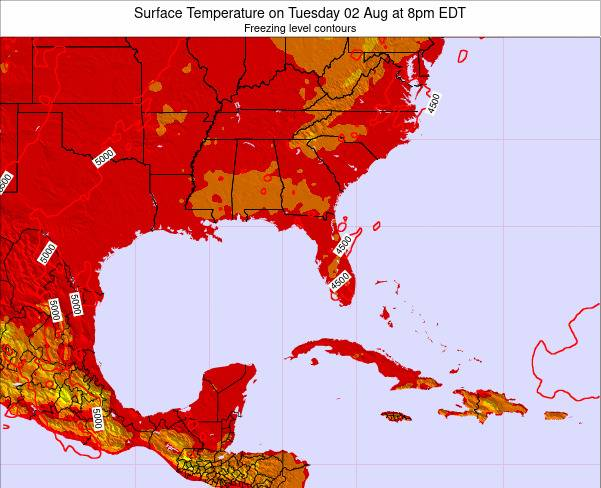 Florida Surface Temperature on Saturday 25 May at 2am EDT