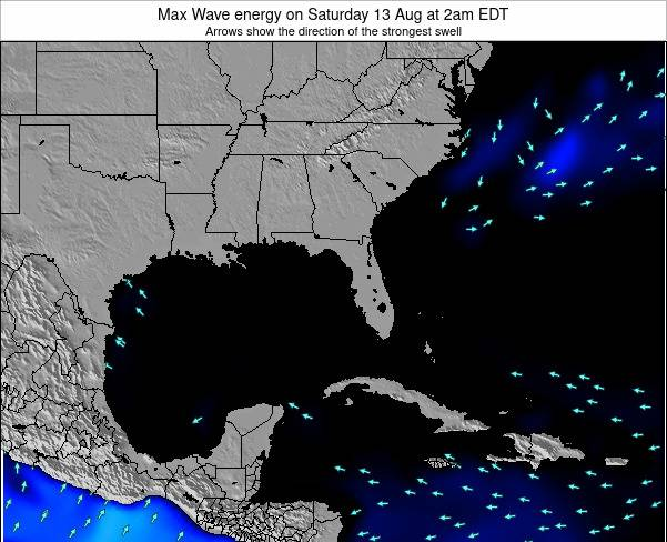 Florida Max Wave energy on Monday 28 Apr at 2am EDT