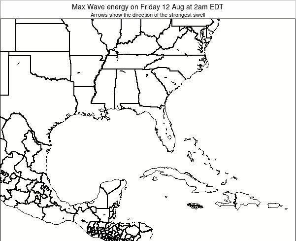 Florida Max Wave energy on Sunday 16 Mar at 2pm EDT
