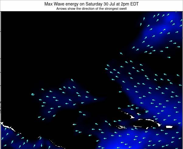 Florida Max Wave energy on Tuesday 10 Dec at 1am EST