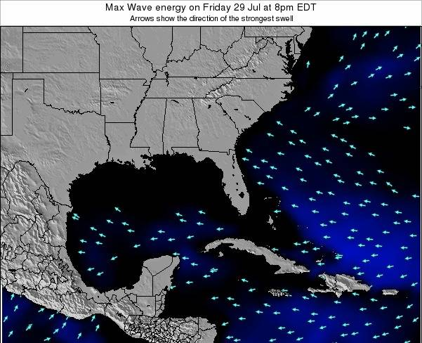 Florida Max Wave energy on Friday 01 Aug at 2am EDT