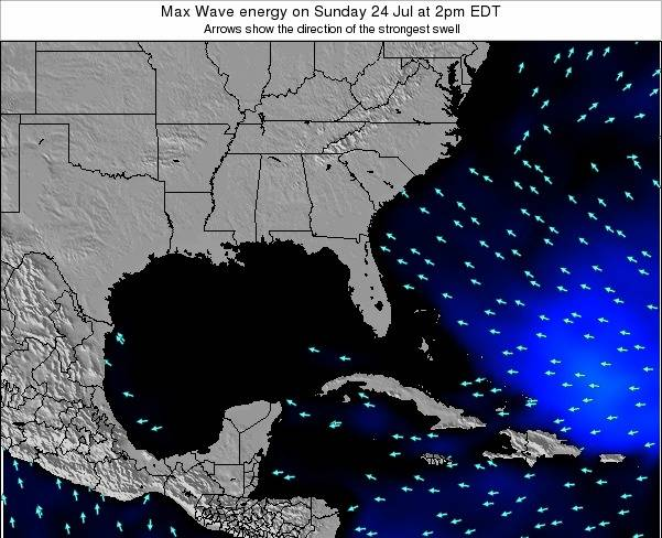 Florida Max Wave energy on Tuesday 26 May at 2pm EDT