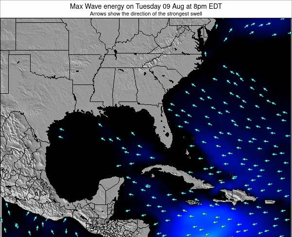 Florida Max Wave energy on Saturday 25 May at 2am EDT