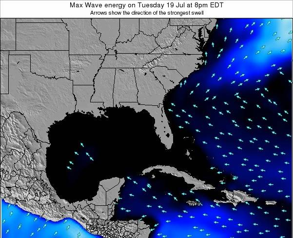 Florida Max Wave energy on Monday 10 Mar at 7am EST