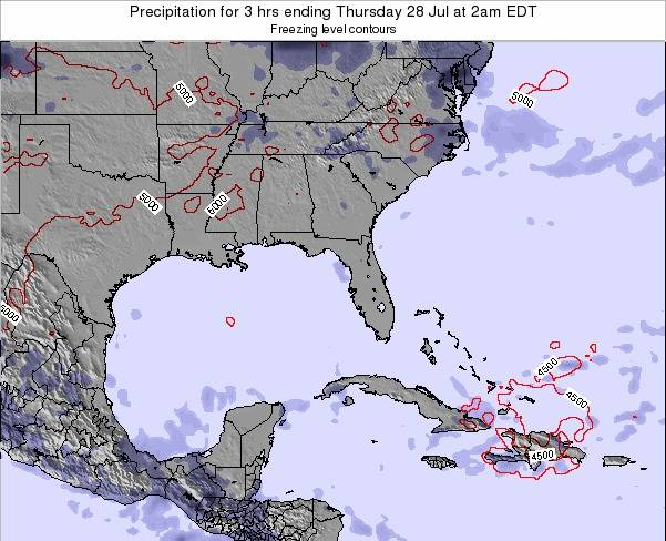 Florida Precipitation for 3 hrs ending Friday 25 Apr at 8pm EDT