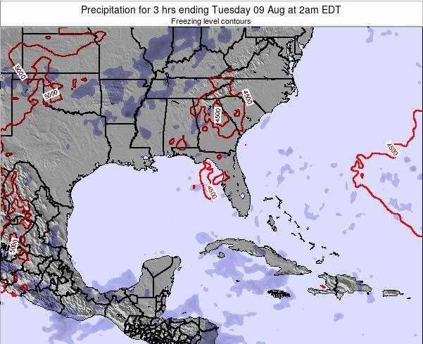 Florida Precipitation for 3 hrs ending Tuesday 30 Aug at 8am EDT