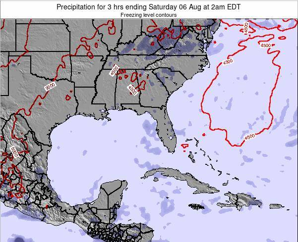 Florida Precipitation for 3 hrs ending Saturday 08 Mar at 1am EST
