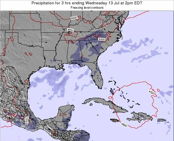 Florida Precipitation for 3 hrs ending Wednesday 23 Apr at 8am EDT