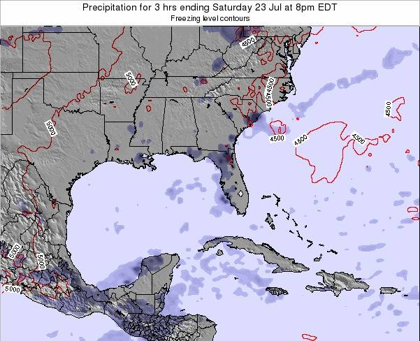 Florida Precipitation for 3 hrs ending Thursday 24 Jul at 8pm EDT