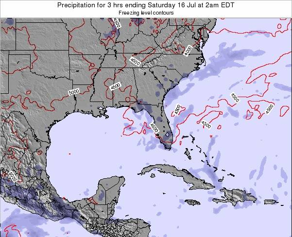 Florida Precipitation for 3 hrs ending Wednesday 20 Aug at 2pm EDT