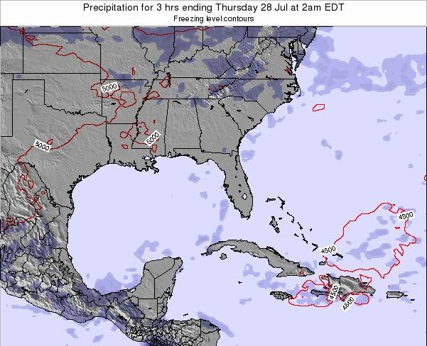 Florida Precipitation for 3 hrs ending Sunday 16 Mar at 8am EDT
