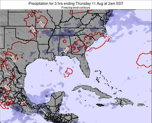Florida Precipitation for 3 hrs ending Sunday 05 Oct at 2am EDT