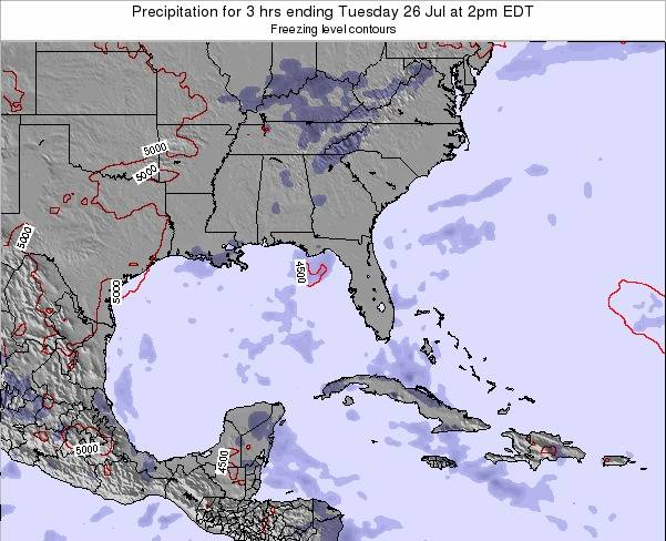 Florida Precipitation for 3 hrs ending Monday 28 Apr at 8pm EDT