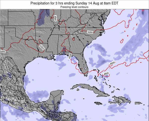 Florida Precipitation for 3 hrs ending Sunday 27 Apr at 2am EDT