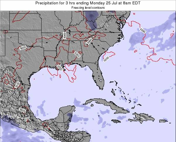 Florida Precipitation for 3 hrs ending Thursday 31 Jul at 2pm EDT