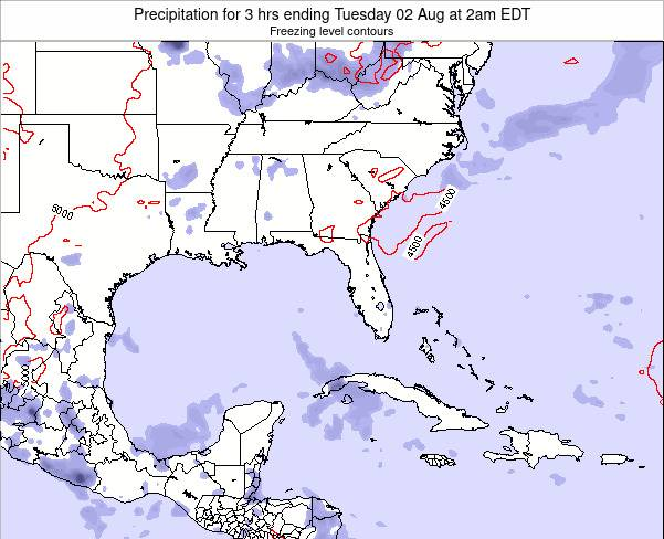 Florida Precipitation for 3 hrs ending Saturday 26 Apr at 8am EDT