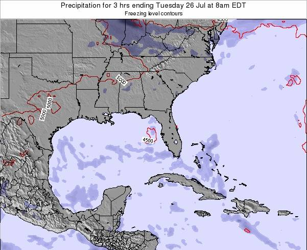 Florida Precipitation for 3 hrs ending Tuesday 27 Sep at 8pm EDT