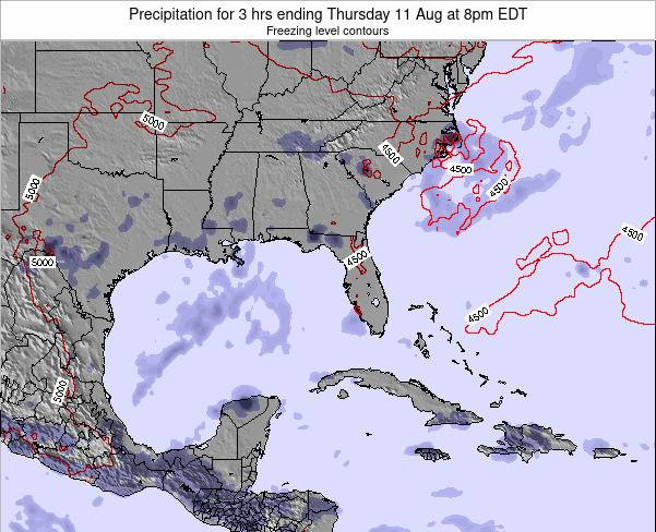 Florida Precipitation for 3 hrs ending Wednesday 12 Mar at 8pm EDT