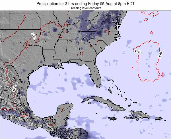 Florida Precipitation for 3 hrs ending Thursday 23 Apr at 2am EDT