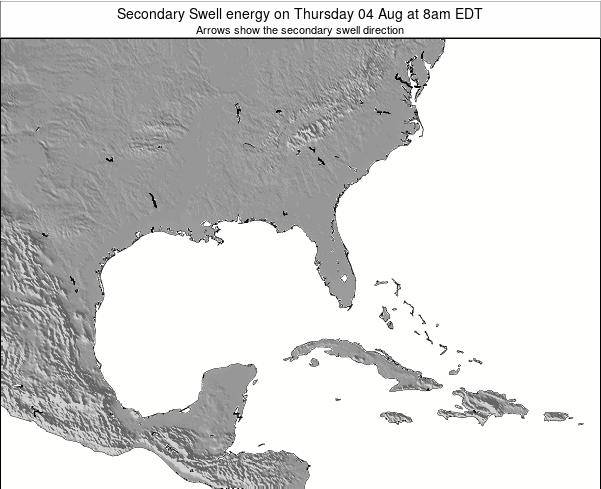 Florida Secondary Swell energy on Thursday 20 Jun at 2am EDT