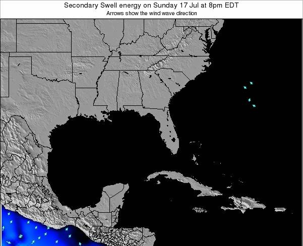 Florida Secondary Swell energy on Friday 24 May at 8pm EDT