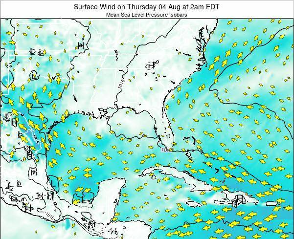Alabama Surface Wind on Wednesday 22 May at 2pm EDT