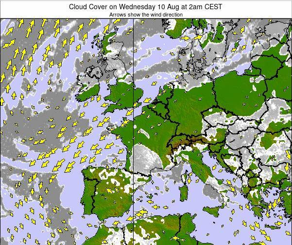 Belgium Cloud Cover on Friday 31 May at 2am CEST