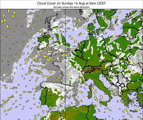 France Cloud Cover on Thursday 30 May at 8pm CEST