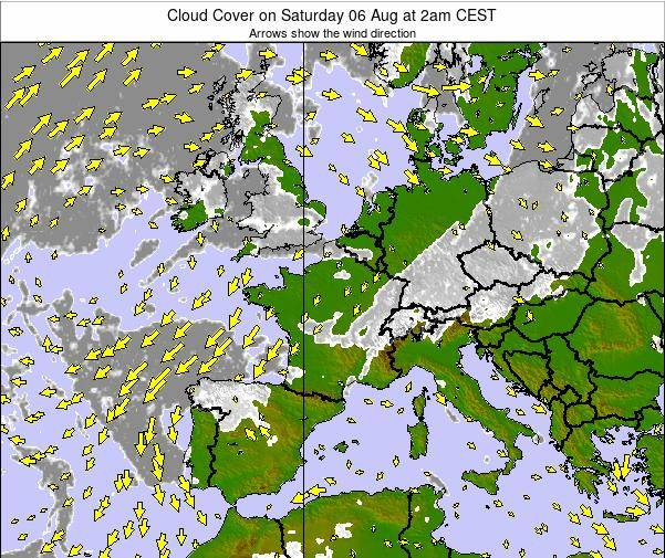 Belgium Cloud Cover on Saturday 22 Jun at 2pm CEST