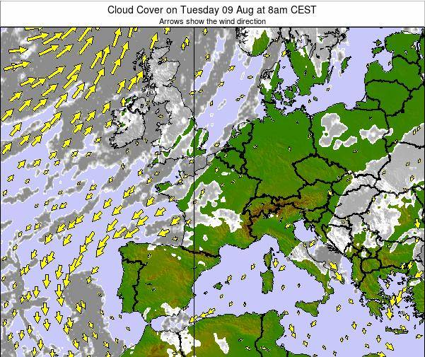 Belgium Cloud Cover on Monday 27 May at 8am CEST