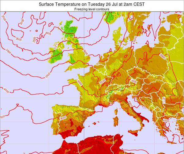 Luxembourg Surface Temperature on Tuesday 18 Jun at 8am CEST map