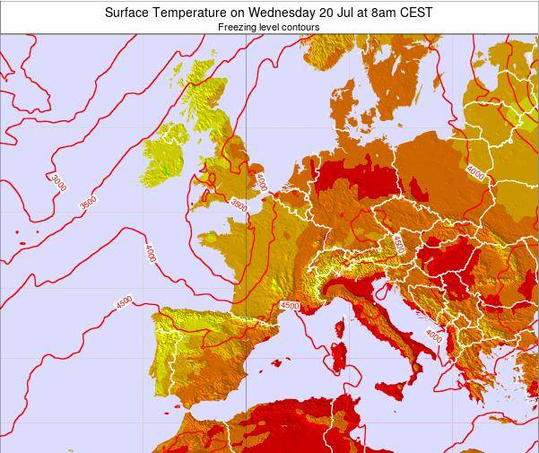 Tuesday Weather Map.Switzerland Surface Temperature On Tuesday 12 Mar At 7am Cet
